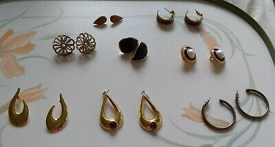 Costume Jewellery Earrings  - Bulk - Joblot - Sale - Bargain - 8 Earrings