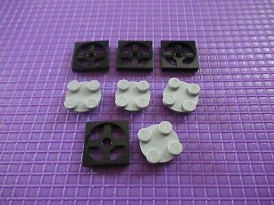 NEW LEGO White Turntable 2 x 2 Light Bluish Gray Spinning Top x10 3680 3679
