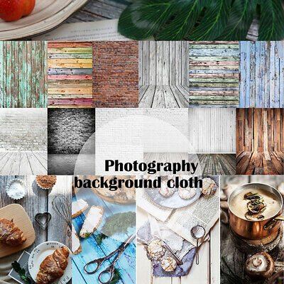 Retro Wood Plank Wall Floor Photography Backdrop Studio Photo Shoot Background