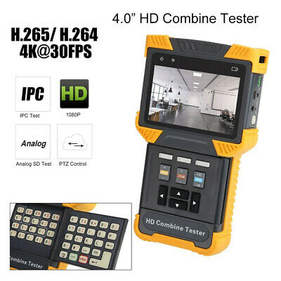 "DT-T70 4K 1080P IPC Camera Tester Security Combine Analog Monitor 4.0"" PoE ONVIF"