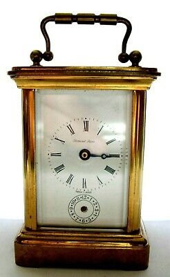 Mini corps pendule clock voyage pendulette officier carriage Norman London 1