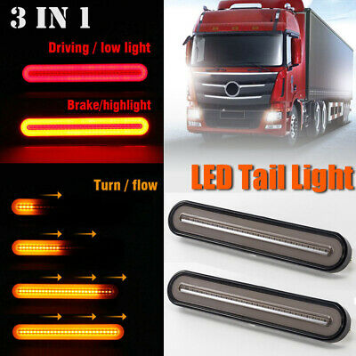 Pair 24V Led Rear Tail Light Lamp 4 Function Trailer Caravan Truck Lorry 100 Led