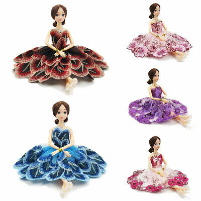 5Pcs Dresses for Barbie Doll Fashion Party Girl Dresses Clothes Gown Toy Gift