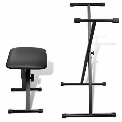Durable Adjustable Keyboard Stand and Stool Set Musical Instrument Seat Bench