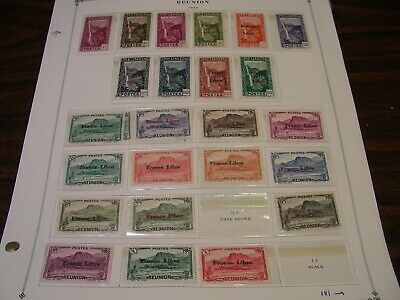 drbobstamps Reunion Mostly Mint (Generally F-VF) Stamp Lot on Scott Album Pages