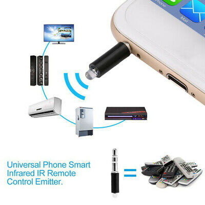 3.5mm Plug Smart Remote Control IR Adaptor Plug for iPhone Android  Cell Phone