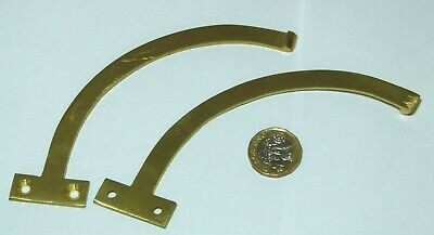 Pair Of Antique Style Solid Brass Window Stays