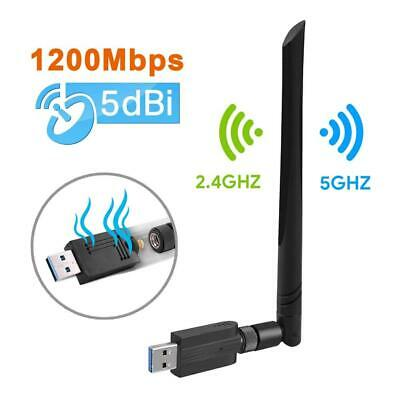 Maxesla Cle WiFi Double Bande AC 1200Mbps USB Adaptateur Dongle,...