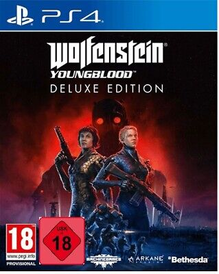 Wolfenstein Youngblood Deluxe Edition -WW2 Symbolik- (PS4)