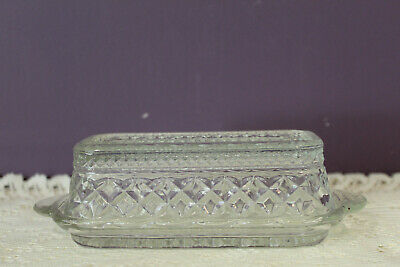 Anchor Hocking Wexford Diamond Point Quarter Pound Covered Butter Dish