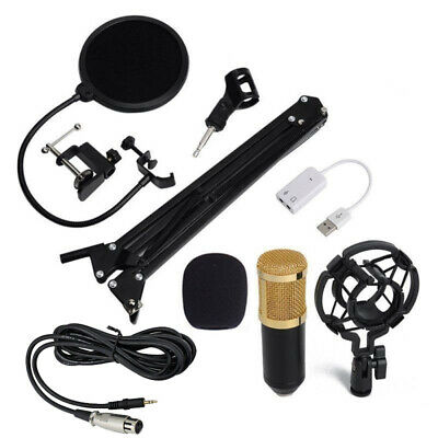 BM-800 USB Wired Studio Condenser Audio Microphone Kit For Smartphone Computer