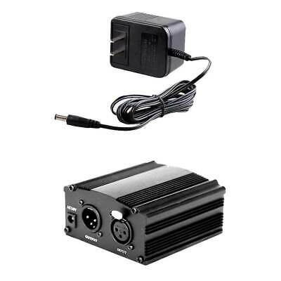 1-Channel 48V Phantom Power Supply with Adapter for Condenser Microphone