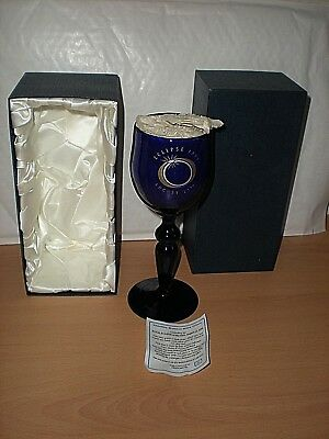 A Very Rare Bristol Blue Glass -Total Eclipse of The Sun August 1999 Limited Ed.
