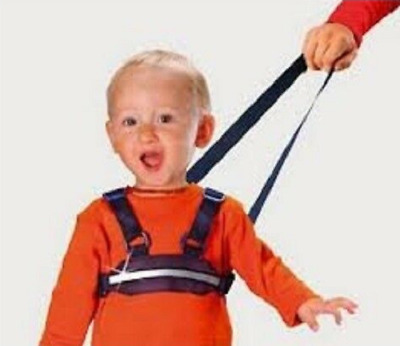 Child Safety Halter Walking Reins Security Harness Reflective Holiday Lead Blue
