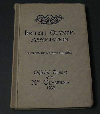 Official Report of the X Olympiad 1932, Los Angeles, Lake Placid, olympic