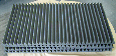 """Pack of 4 24"""" x 48"""" x 2"""" Acoustic Foam Sound Dampening Panels"""