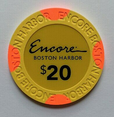 New Rare $20 Encore Boston Harbor Casino Grand Opening Gaming Poler Room Chips