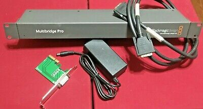 Blackmagic Design Multibridge Pro 2 w/Power Supply, Host Card, and Host Cable