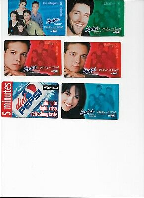 Lot of Party of 5 phone cards; Diet Pepsi; used, collectible