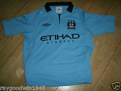 New Manchester City Home Shirts 2012- 13  Size .Extra Large Boys  .Official