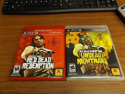 Red Dead Redemption & Undead Nightmare (PS3) Complete Scratch Free NICE!