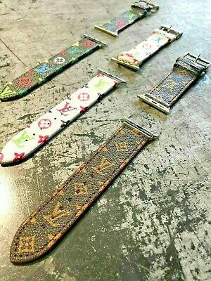 LV Apple Watch Band Leather Watch Strap 38/40/42/44mm 1/2/3/4 for IWatch 4 3 2 1