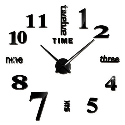 Large Wall Clock without Frame Wall Art Clock Nonticking for Living Room Bedroom