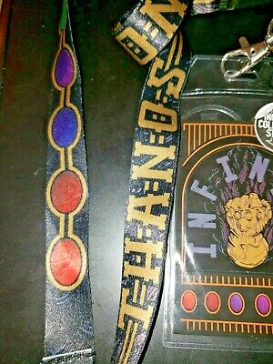 Marvel Thanos Infinity Stones  Lanyard badge Holder & sticker Infinity Gauntlet