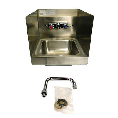"Advanced Tabco 7-PS-49 Hand Sink with K-123-CA 4"" D Spout Splash Mount Faucet"