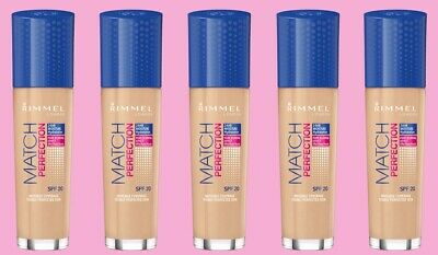RIMMEL MATCH PERFECTION FOUNDATION, SPF20, 30 ml : Choose Your Shade :