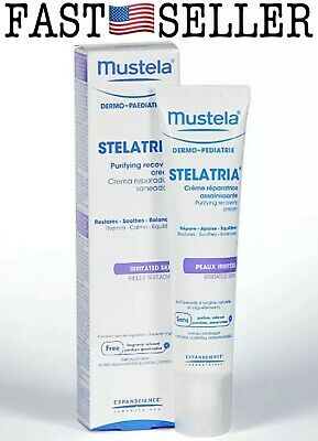 Mustela Stelatria Purifying Recovery Cream For Skin Irritated Areas, 1.35oz/40ml