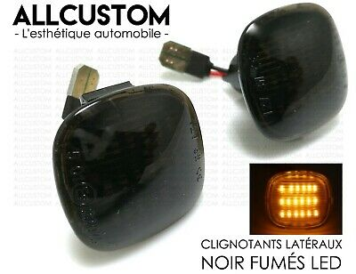 2 SMOKED BLACK SIDE BLINKER LIGHTS LED REAPEATERS for AUDI A3 8L 1994-2000 S S3