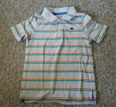 CARTER'S Gray Striped Short Sleeved Polo Top Boys Size 3T