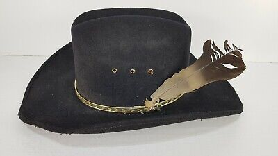 8be8543f Western Express Inc Black Felt Cowboy Hat 54cm Clint Eastwood Country Mexico