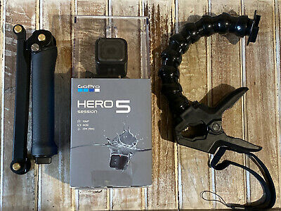 GoPro HERO5 Session CHDHS-501 Camera + Smart Remote + 3-Way Arm + Jaws Clamp