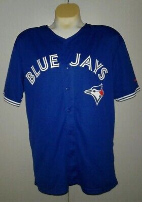 newest aad25 8a951 TORONTO BLUE JAYS Mlb Majestic 2 Button Replica Jersey ...