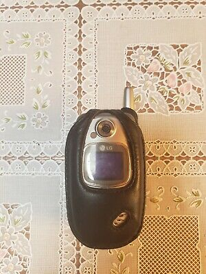 LG VX5300 Cellular Flip Phone Cell Verizon Wireless Untested with Case