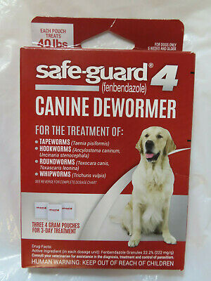 Safe-Guard 4 Canine Dewormer Three 4 Gram 3-Day Treatment Dogs 6 Weeks And Older