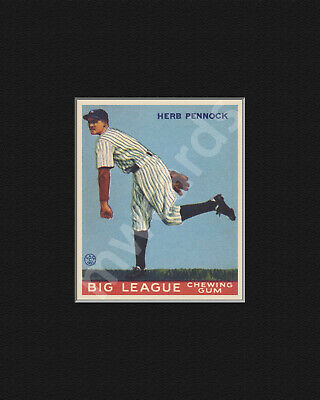 Enlarged Print, 1933 Goudey #138 Herb Pennock (Yankees), with Mat