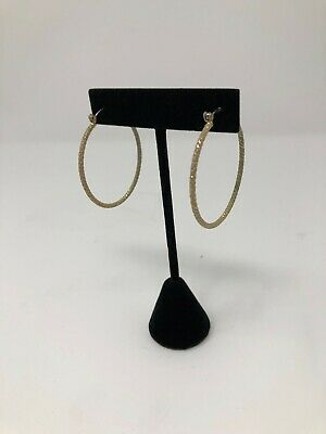 "3.5H/"" BLACK EARRING VELVET JEWELRY DISPLAY TOP STAND POST HOOKS CLIP A2B1"