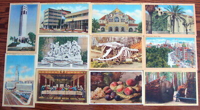 Huge Lot of 1100 c1905-1950 great views from across the United States, NO CHROME
