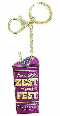Disney Epcot Flower And Garden 2019 Violet Lemonade Keychain Zest Fest