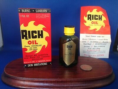 Vintage Rich Oil with Salcolan, Proposed First Aid Treatment, 1 oz Bottle