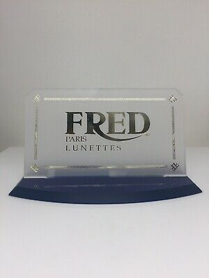 Fred Paris Lunettes Display Logo Piece Rare Vintage Fred Dealer Display Logo