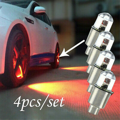 4x LED Lights Wheel Tyre Tire Valve Dust Cap For Car Bike Bicycle Motorcycle