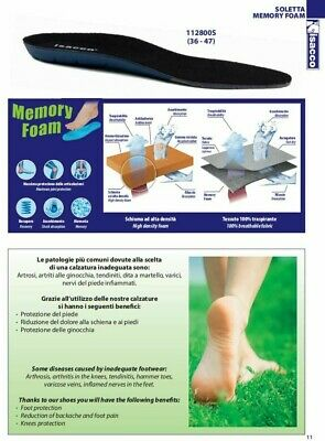 Insoles Memory Foam for Shoes Sneaker Comfort Isacco