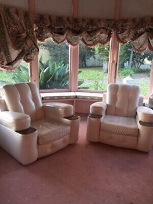 French Antique Art Deco Leather Club Chairs - (Circa 1920'S) Great Condition!!!