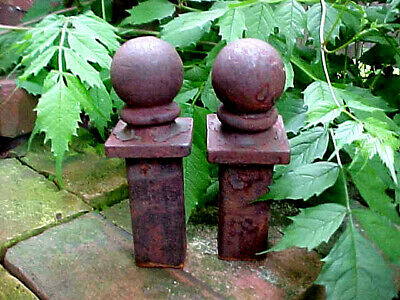 Antique Cast Iron Ball Cap Finial Fence Topper Rustic Shabby Chic Architectural