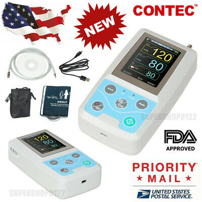 USA FDA ABPM50 Ambulatory Blood Pressure Monitor 24 hours recorder NIBP software