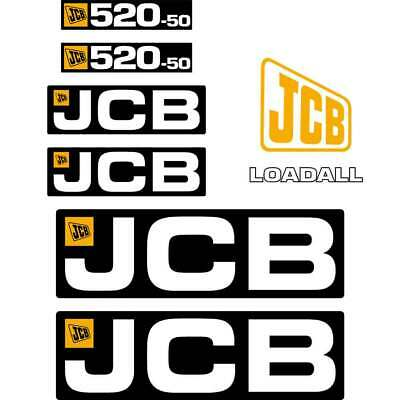 JCB 520-50 decals - Repro decal Sticker kit